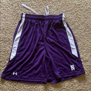 Under armour shorts with Northwestern logo